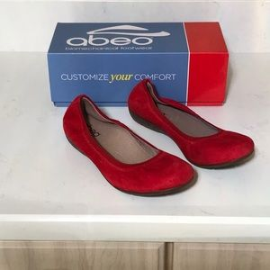 Abeo Flat red shoes.